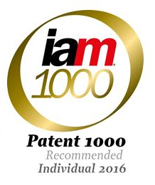 logo IAM Patent 1000recommended individual